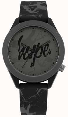 Hype | bracelet homme en silicone imprimé gris | cadran gris | HYG005B