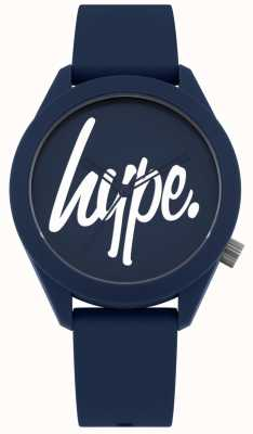 Hype | bracelet en silicone bleu pour hommes | cadran bleu et blanc | HYG001U