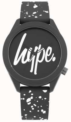 Hype | Bracelet homme en silicone imprimé gris et blanc | cadran gris | HYG003BW