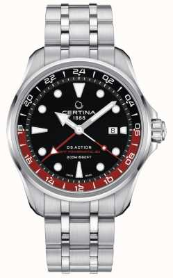 Certina | action ds | gmt powermatic 80 | cadran noir | C0324291105100