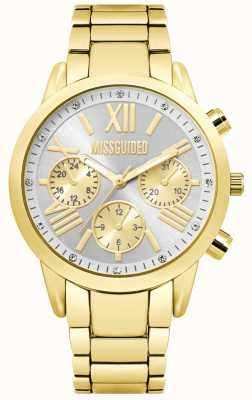 Missguided | montre dame chronographe en or | MG008GM