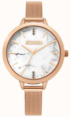 Missguided | Mesdames rose montre en maille d'or | MG011RGM