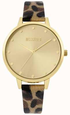 Missguided | bracelet imprimé léopard pour femme | boîtier et cadran en or | MG003BRG