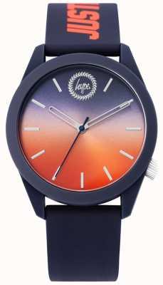 Hype | montre en silicone bleue pour hommes | cadran deux tons | HYU020UO