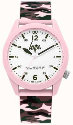 Hype | bracelet en silicone camouflage pour femme | cadran blanc | HYL019NP
