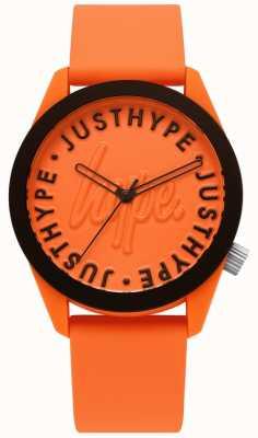 Hype | montre homme | bracelet en silicone orange | cadran orange | HYU023O