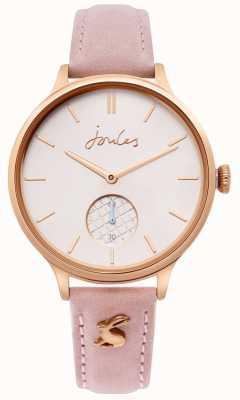 Joules | bracelet en cuir rose pour femme | boîtier en or rose | JSL014PRG