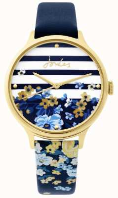 Joules | montre femme | bracelet imprimé floral bleu marine | JSL015UG