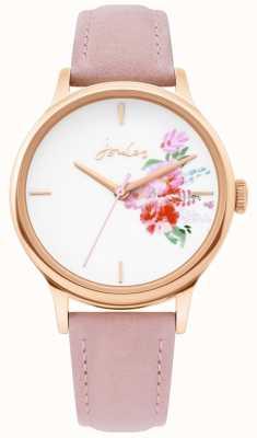 Joules | montre femme | bracelet en cuir nude | boîtier en or rose | JSL017PRG