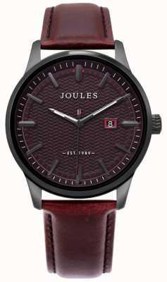 Joules | montre marfield pour homme | bracelet en cuir marron | cadran marron | JSG009BRB