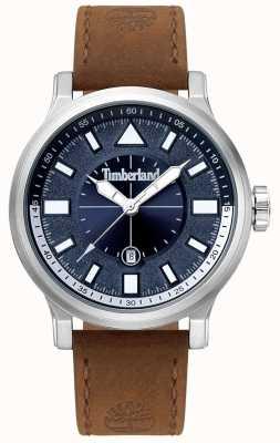 Timberland | driscoll homme | bracelet en cuir marron | cadran bleu | 15248JS/03