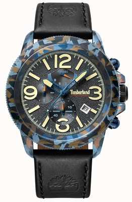 Timberland | hommes ashbrook | bracelet en cuir noir | cadran noir | 15474JSBL/61