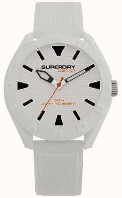 Superdry | osaka | cadran blanc mat | sangle blanche texturée SYG243W