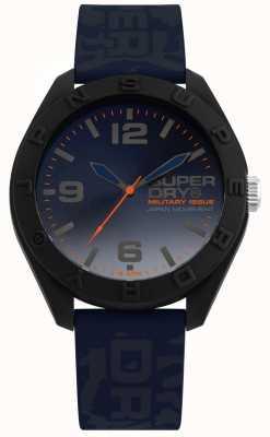 Superdry | osaka | bracelet en silicone bleu camo | cadran bleu | SYG242U