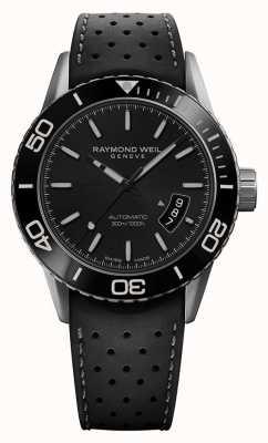 Raymond Weil | pigiste homme | bracelet en caoutchouc grisblack | 2760-TR1-20001