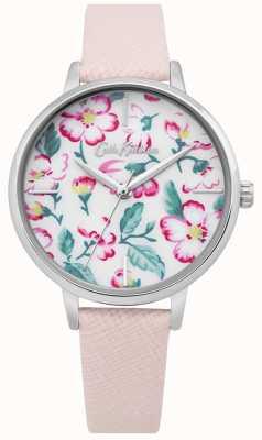 Cath Kidston | montre de fleur d'escalade femme | cuir rose | cadran floral CKL069P