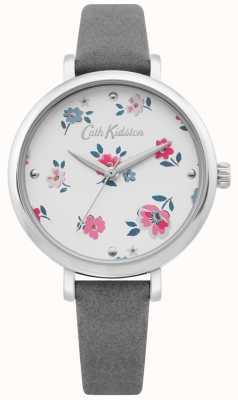 Cath Kidston | montre femme brampton ditsy | bracelet en cuir gris | CKL079E