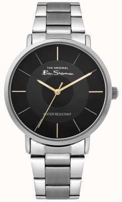 Ben Sherman | montre de script mens | bracelet en acier inoxydable | cadran noir BS014BSM