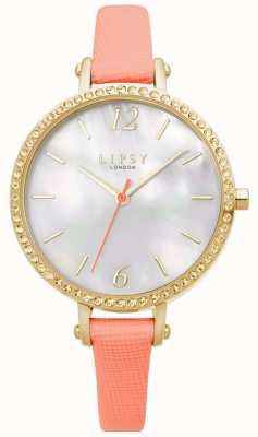 Lipsy | bracelet en cuir de corail pour femme | cadran blanc | LP649