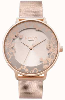 Lipsy | Bracelet en maille d'or rose pour femme | cadran en or rose | LP646