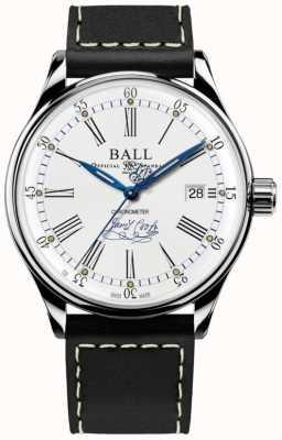 Ball Watch Company Trainmaster effort chronomètre édition limitée en cuir NM3288D-L2CJ-WH