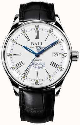 Ball Watch Company Trainmaster effort chronomètre édition limitée en cuir NM3288D-LL2CJ-WH