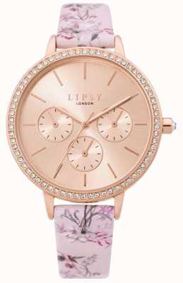 Lipsy | bracelet rose floral pour femme | cadran en or rose | LP648