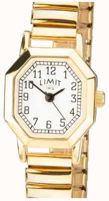 Limit | Bracelet extensible pour femme doré | cadran blanc | 6498