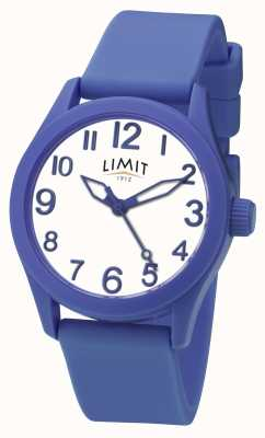 Limit | bracelet en silicone bleu | cadran blanc | 5719