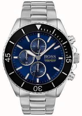 Hugo Boss   mens ocean edition   acier inoxydable argenté   cadran bleu   1513704