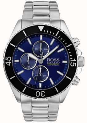 Boss | mens ocean edition | acier inoxydable argenté | cadran bleu | 1513704
