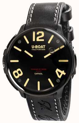 U-Boat Capsoil dlc electromechanics bracelet en cuir noir 8108