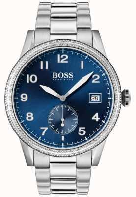 Boss | montre homme legacy | acier inoxydable | cadran bleu | 1513707