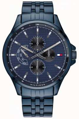 Tommy Hilfiger Shawn | bracelet ip bleu | cadran bleu 1791618