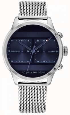 Tommy Hilfiger | montre en acier inoxydable pour hommes | cadran bleu | 1791596