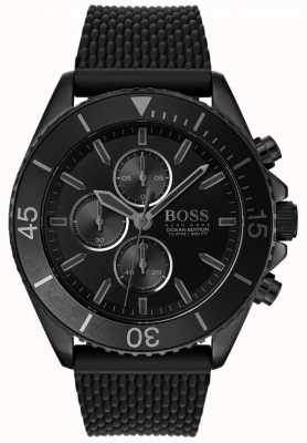 Boss | édition océan mens | cadran noir | bracelet noir | 1513699