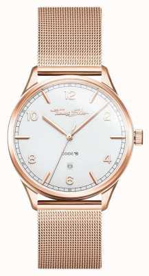 Thomas Sabo | bracelet en acier inoxydable or rose | cadran blanc | WA0341-265-202-40