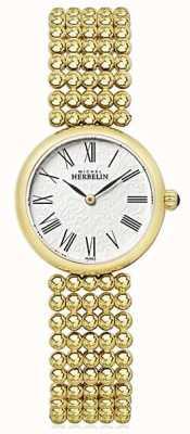 Michel Herbelin Bracelet pour femme en plaqué or avec cadran de 27 mm 17483/BP08