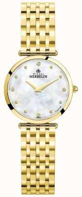 Michel Herbelin | les femmes | epsilon | cadran en nacre | bracelet en or | 17116/BP89