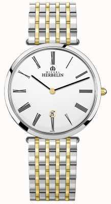 Michel Herbelin | hommes | epsilon | bracelet deux tons extra plat | 19416/BT11