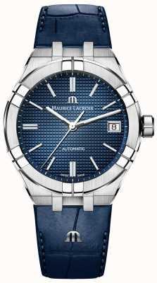 Maurice Lacroix Aikon cadran bleu automatique bracelet en cuir bleu AI6007-SS001-430-1