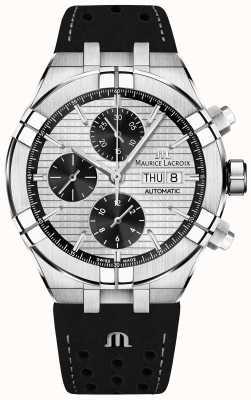 Maurice Lacroix Aikon chronographe automatique cadran panda noir bracelet noir AI6038-SS001-132-1