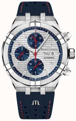Maurice Lacroix Aikon automatique édition limitée cadran bleu / rouge bracelet bleu AI6038-SS001-133-1