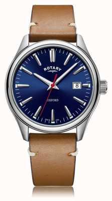 Rotary | bracelet en cuir beige | boîtier en acier inoxydable | GS05092/53