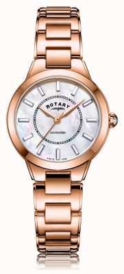 Rotary   bracelet dames en or rose   LB05379/41