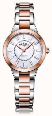 Rotary   bracelet dames en or rose deux tons   LB05377/41