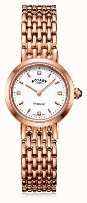 Rotary   bracelet dames en or rose   LB00901/70/D