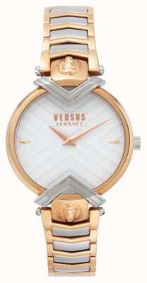Versus Versace | bracelet deux tons pour femme | cadran blanc | VSPLH0719
