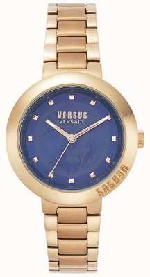 Versus Versace Bracelet femme en or rose | cadran bleu | VSPLJ0819