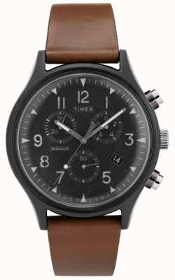 Timex | supernova acier chrono mk1 | montre en cuir | TW2T29600D7PF